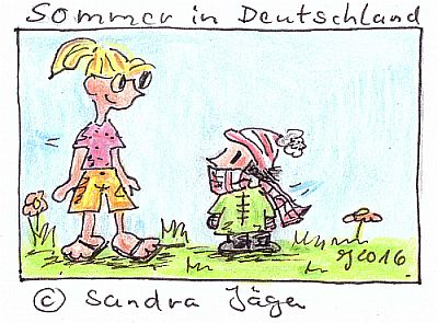Cartoon - Sommer in Deutschland 2016 Sandra Jaeger