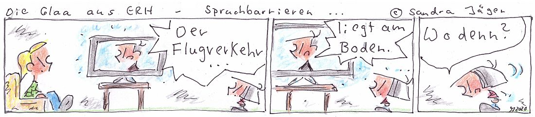Comics - Sandra Jaeger 2020 - Sprachbarrieren